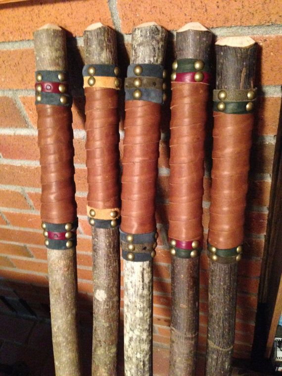 Walking Stick With Leather Handle By Broomchick On Etsy Walking