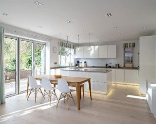 An Edwardian Home With A Modern Kitchen Extension Scandinavian Kitchen Design Kitchen Design Trends Modern Kitchen Design