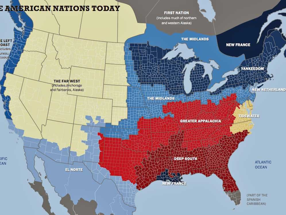 This map shows how america is divided into 11 nations history this map shows how america is divided into 11 nations gumiabroncs Images