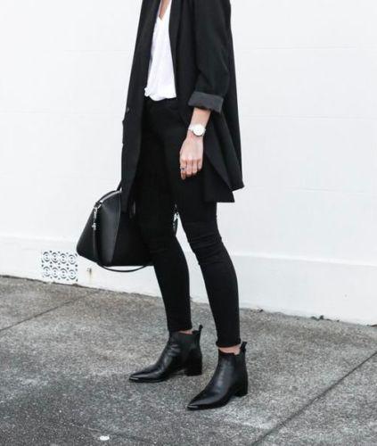 Design-style-ACNE-JENSEN-BOOTS-Leder-schwarz-38-39-elegant-chic-NEU-450-uro dd46995382a