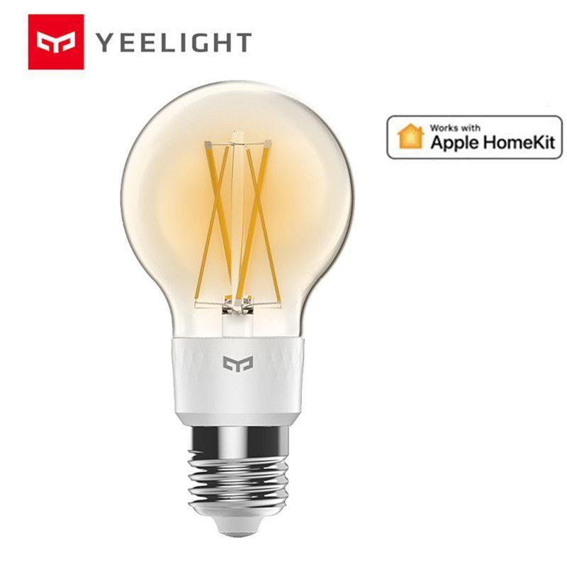 Yeelight Ampoule A Filament Led Intelligente Yldp12yl 700 Lumens 6w Citron Ampoule Intelligente Fonctionne Avec Apple Homekit Pr In 2020 Smart Bulb Filament Bulb Bulb