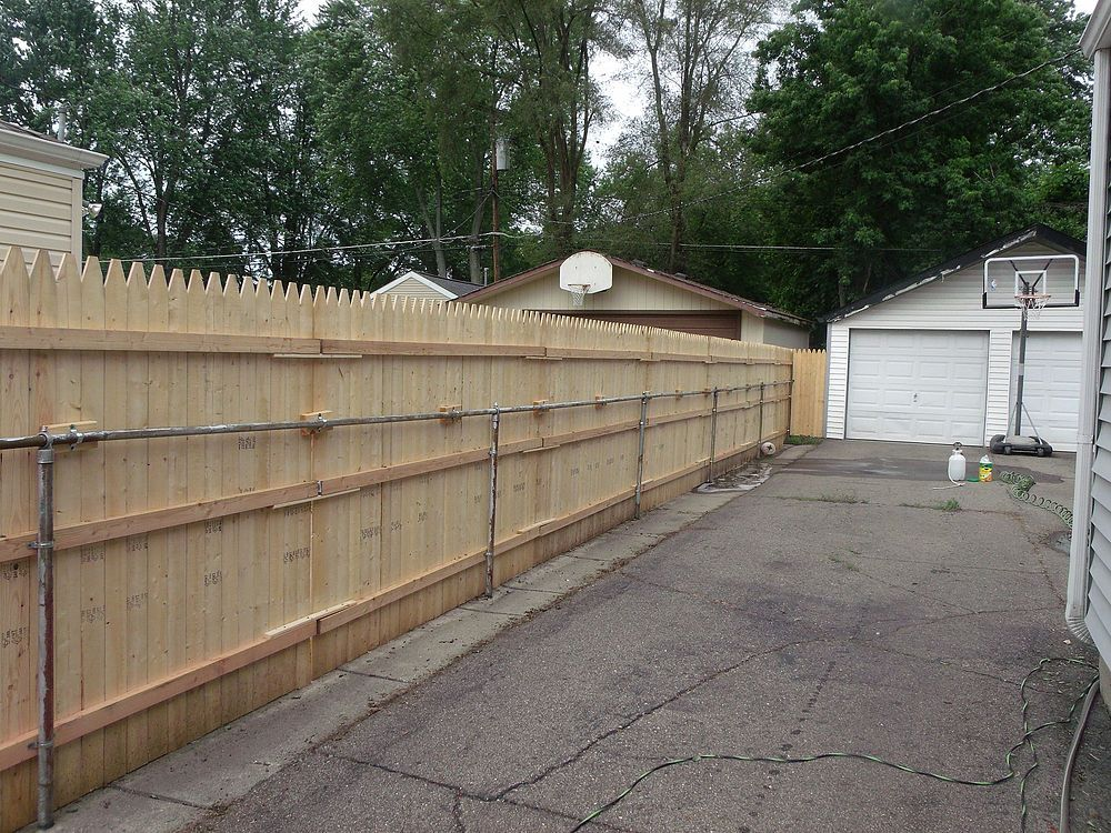 New Privacy Fence In 2019 Fences Chain Link Fence