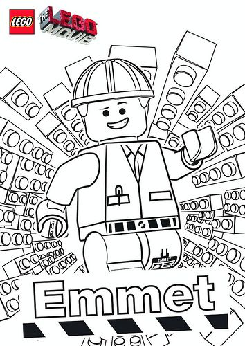 The LEGO Movie Coloring Pages - Emmet by tormentalous, via Flickr - new easy lego coloring pages