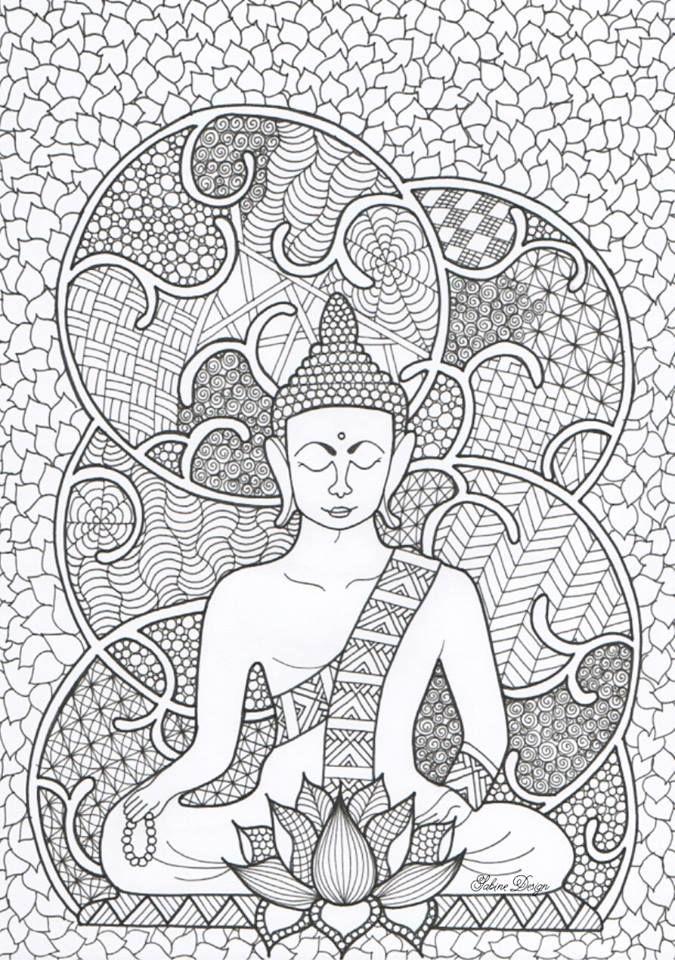 Boeddha Mandala Coloring Pages Mandala Coloring Coloring Pages