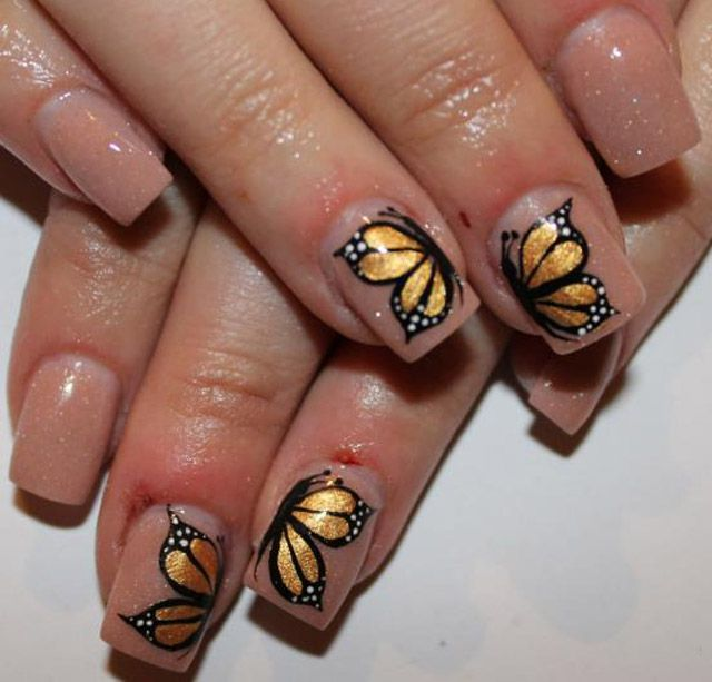 Butterfly nails!  LOVE this!