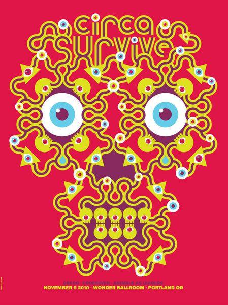 Gigposters Com Circa Survive Dredg Codeseven Animals As Leaders Circa Survive Tour Posters Poster Prints