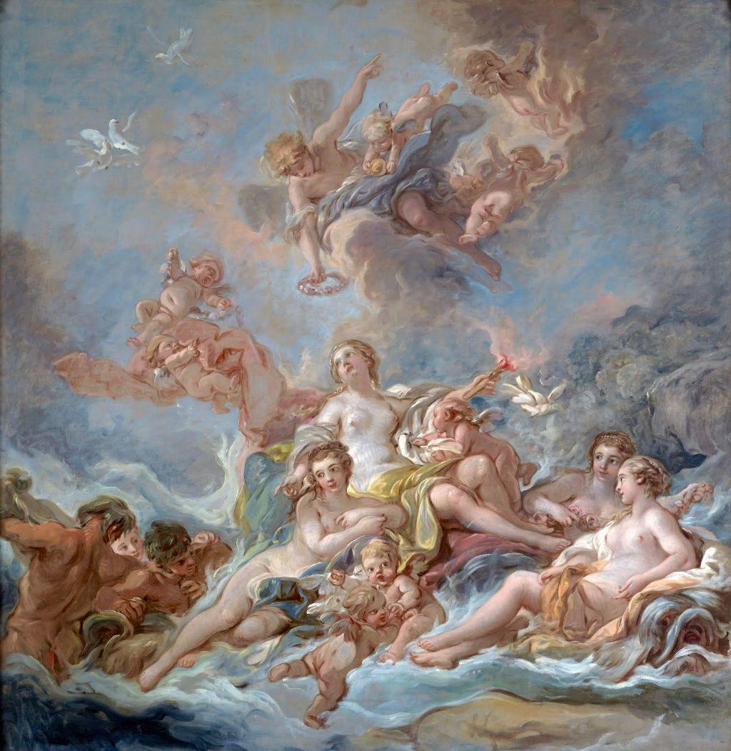 Francois Boucher The Triumph Of Venus Dimensions W198 X H204