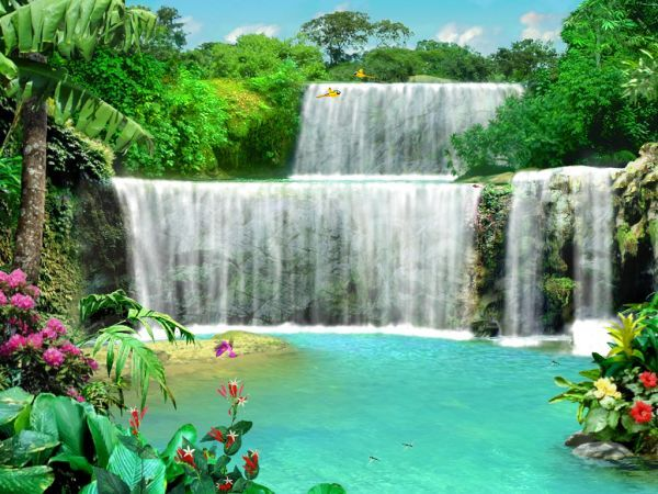 Live Waterfalls Screensavers with Sound   Living 3D Waterfalls Screen Saver 3.0 : screen capture ...