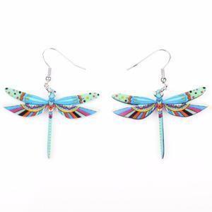 Long Dragonfly Drop Earrings: 8 Variants