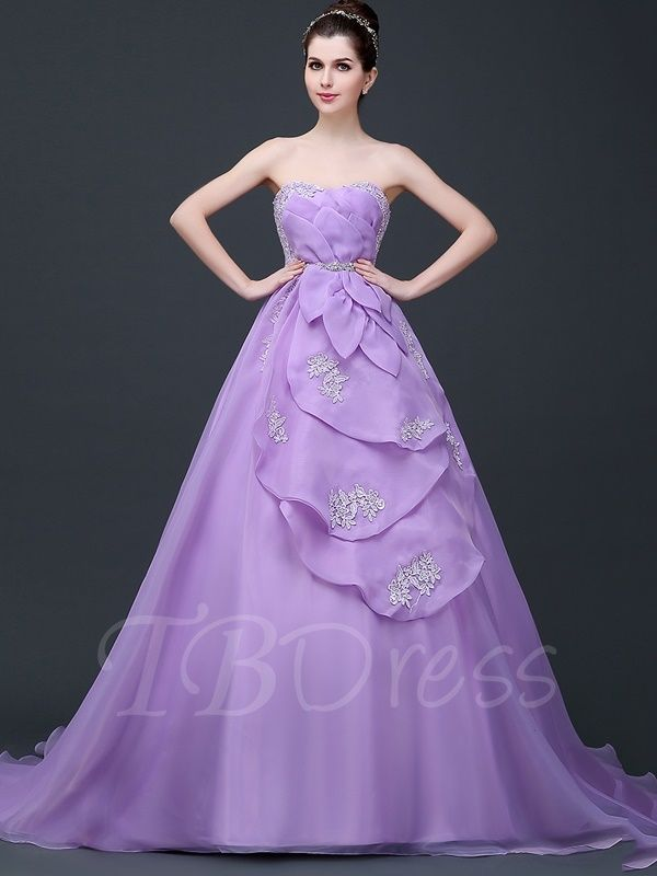 6e2273c9c325 Tbdress.com offers high quality Strapless Appliques Tiered Ball Gown Dress  Ball Gowns unit price of   195.99.