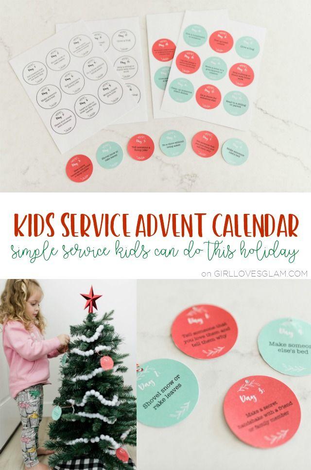 Childrens Christmas Services 2020 Kids Service Advent Calendar Printable in 2020   Advent calendars