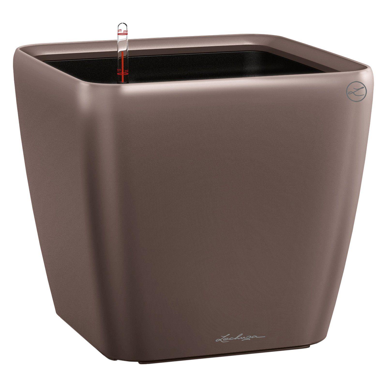 Lechuza Quadro Premium LS Indoor/Outdoor Self-Watering Planter Espresso Metallic #selfwatering