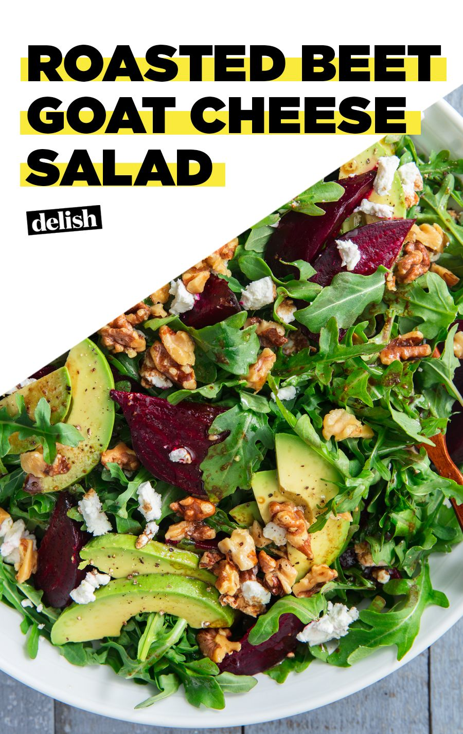 This Roasted Beet Goat Cheese Salad Is Addictive