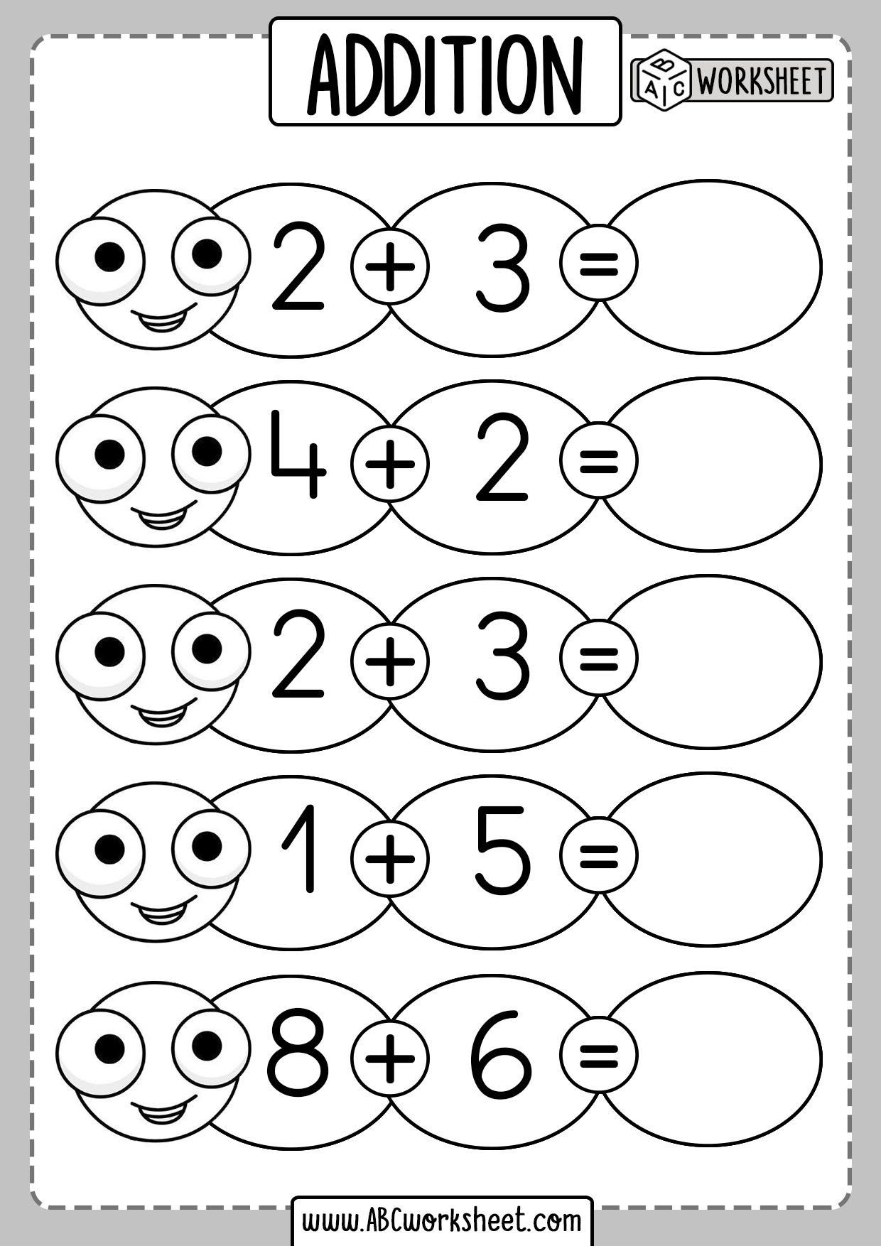 Kindergarten Addition Subtraction Worksheets Kindergarten