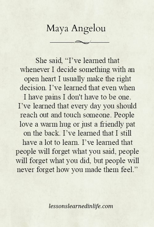 Words By Maya Angelou Citation De Vie Paroles Inspirantes Deep Relationship Quotes