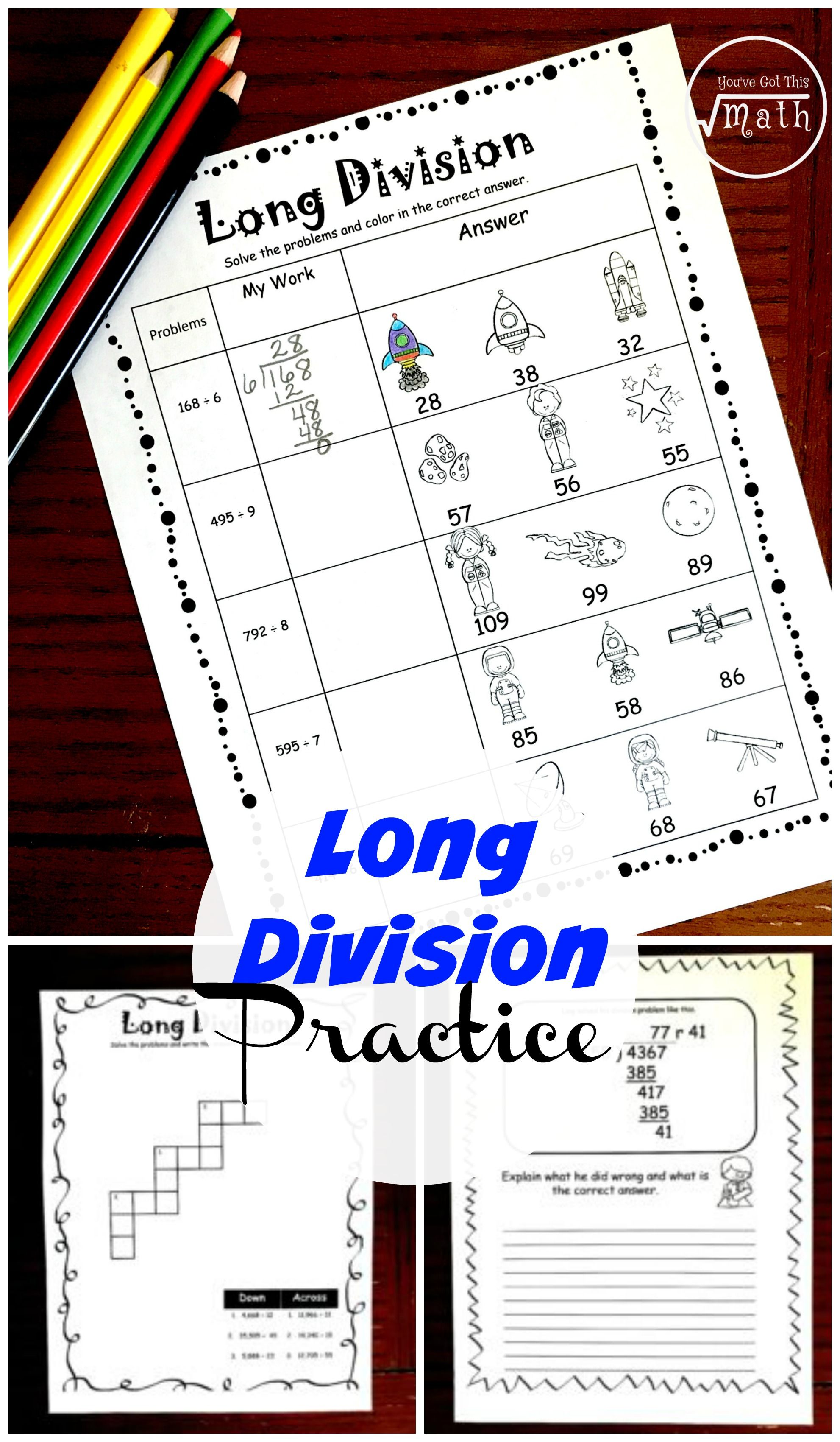 These Division Worksheets Work On Long Division While