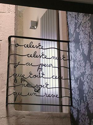 le balcon de juliette atelier rouge cerise escalier et barri re garde corps pinterest. Black Bedroom Furniture Sets. Home Design Ideas