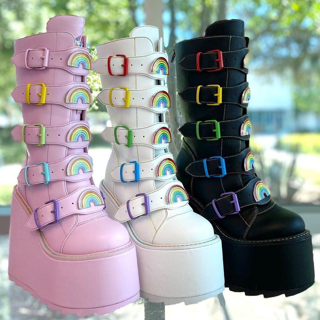 Kawaii shoes, Goth platform boots