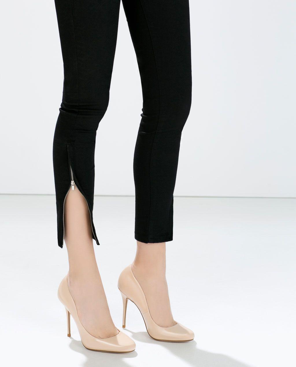 e531d6d19b0 FAUX PATENT LEATHER HIGH HEEL COURT SHOE-Shoes-Woman-SHOES  amp  BAGS