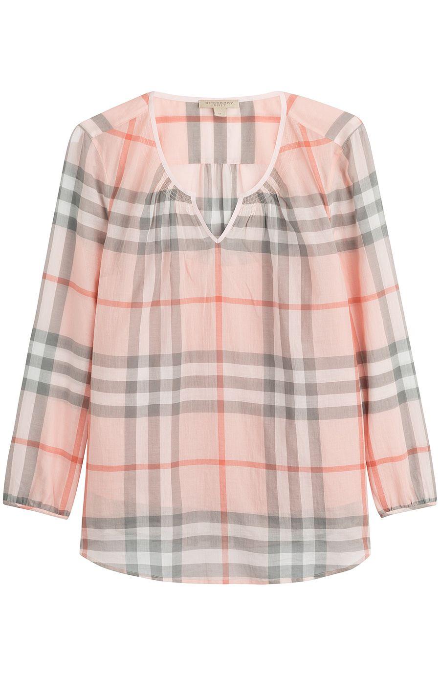 Bluse mit Karo-Muster detail 0 | Nähen | Pinterest | Nähen