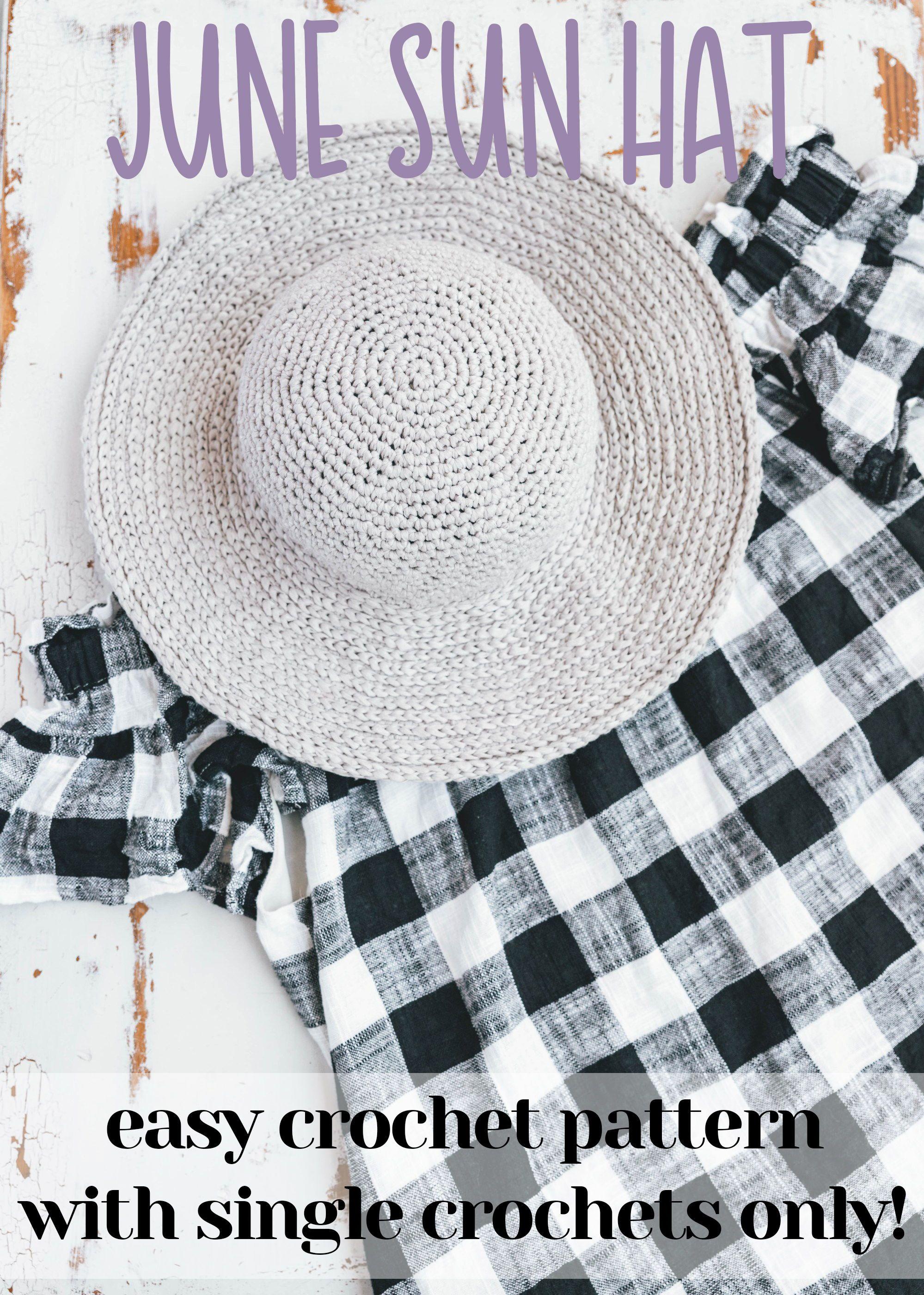 Crochet June Sun Hat | Pinterest | Gorros y Apliques