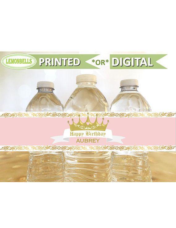 Princess Water Bottle Labels Princess Baby Shower Water Princess