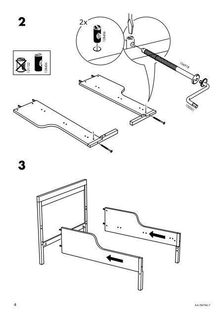Ikea SUNDVIK Struttura Letto Allungabile E Doghe ...