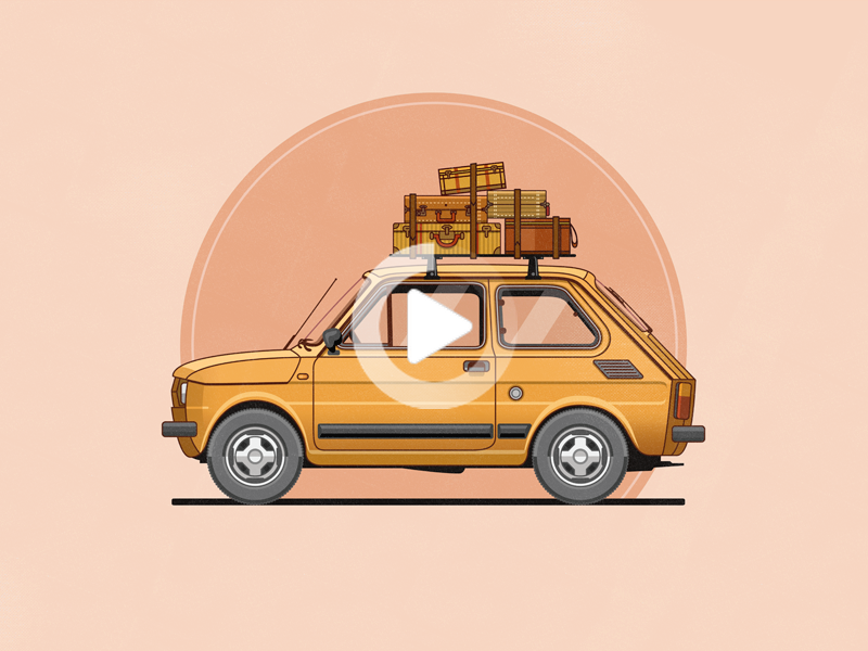 Fiat 126 Fiat 126 Car Illustration Car Drawings