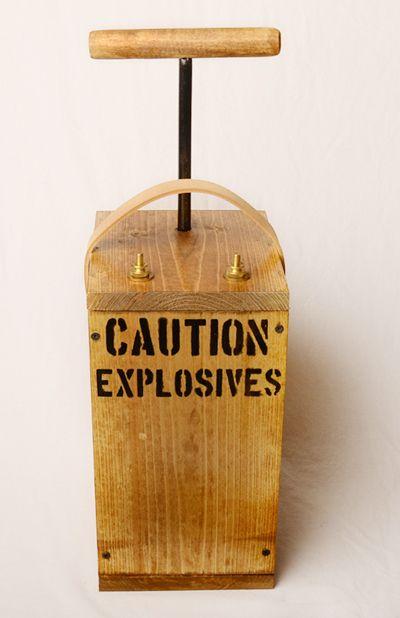 Blasting Machine Replica Detonator Dynamite Plunger