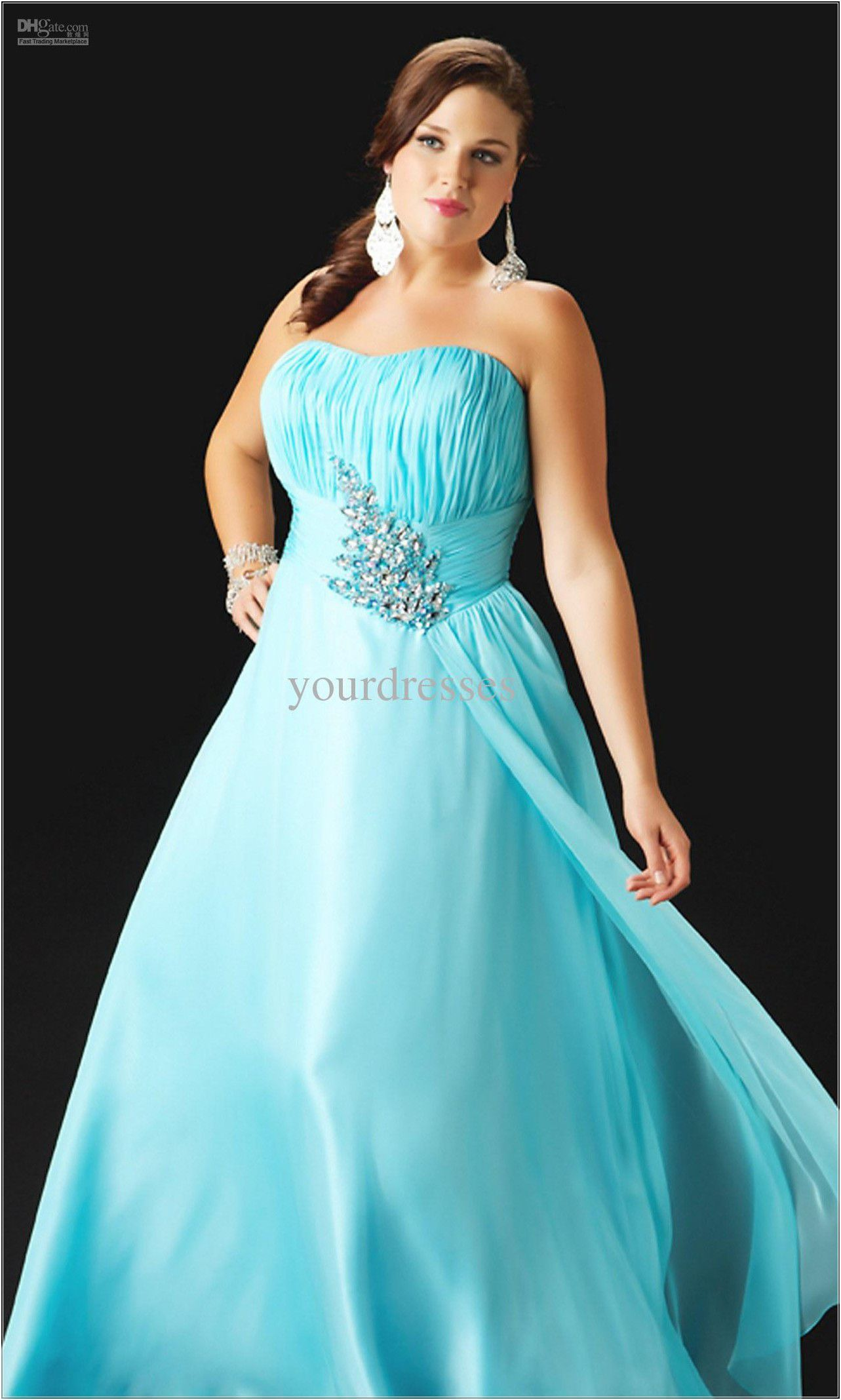 Plus Size Wedding Dresses With Light Blue and Blink Belk Accesories ...