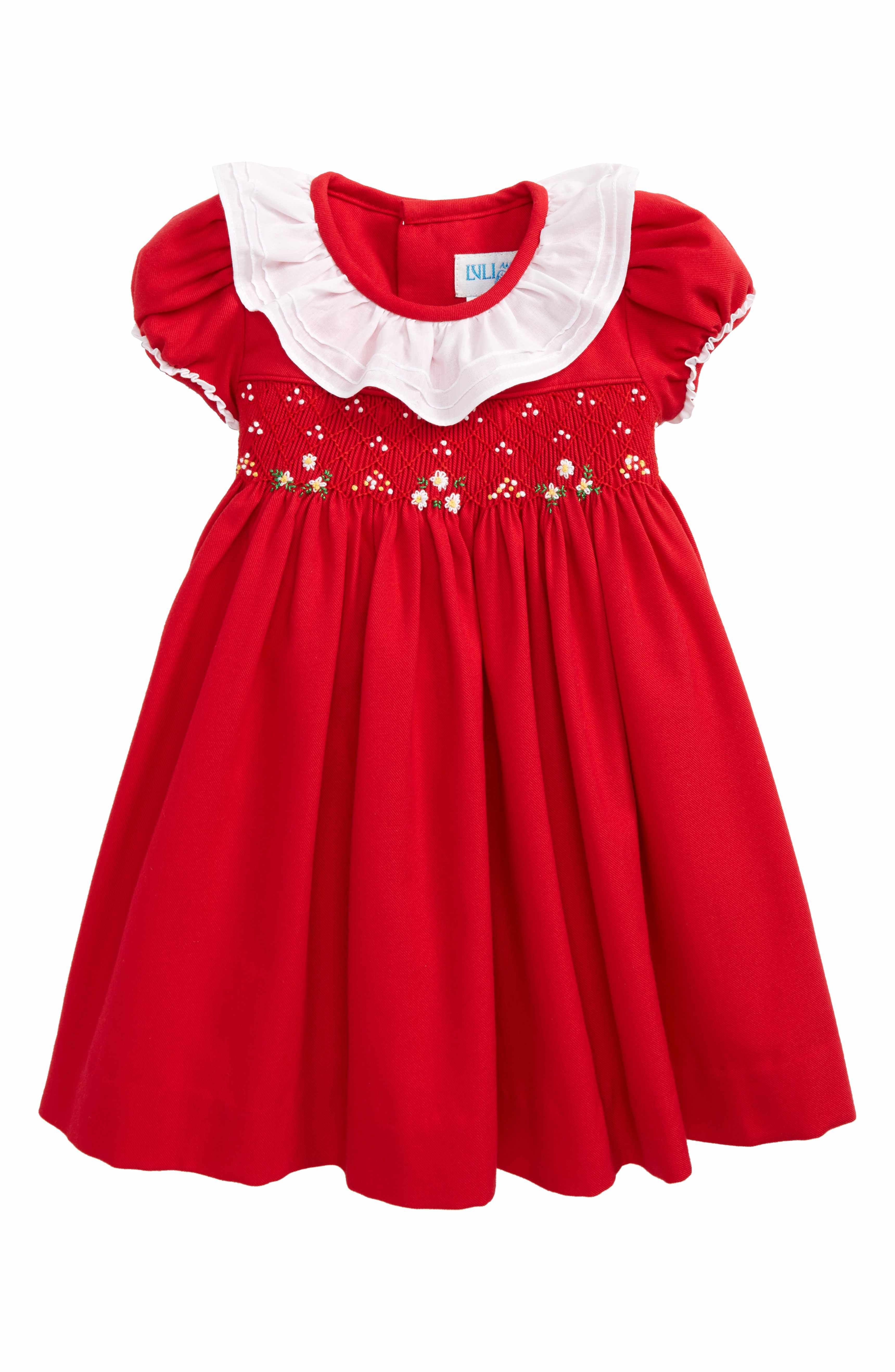 Main Image Luli & Me Viyella Smocked Dress Baby Girls