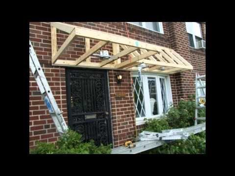 Pent Roof Over Door Slideshow Youtube Porch Roof Design Front Porch Design Diy Awning