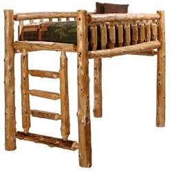 Loft Style Bunk Bed Log Beds Minnesota Home Furniture