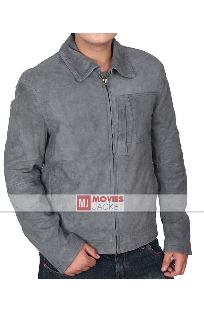Jack Harper Oblivion Tom Cruise Grey Suede Leather Jacket