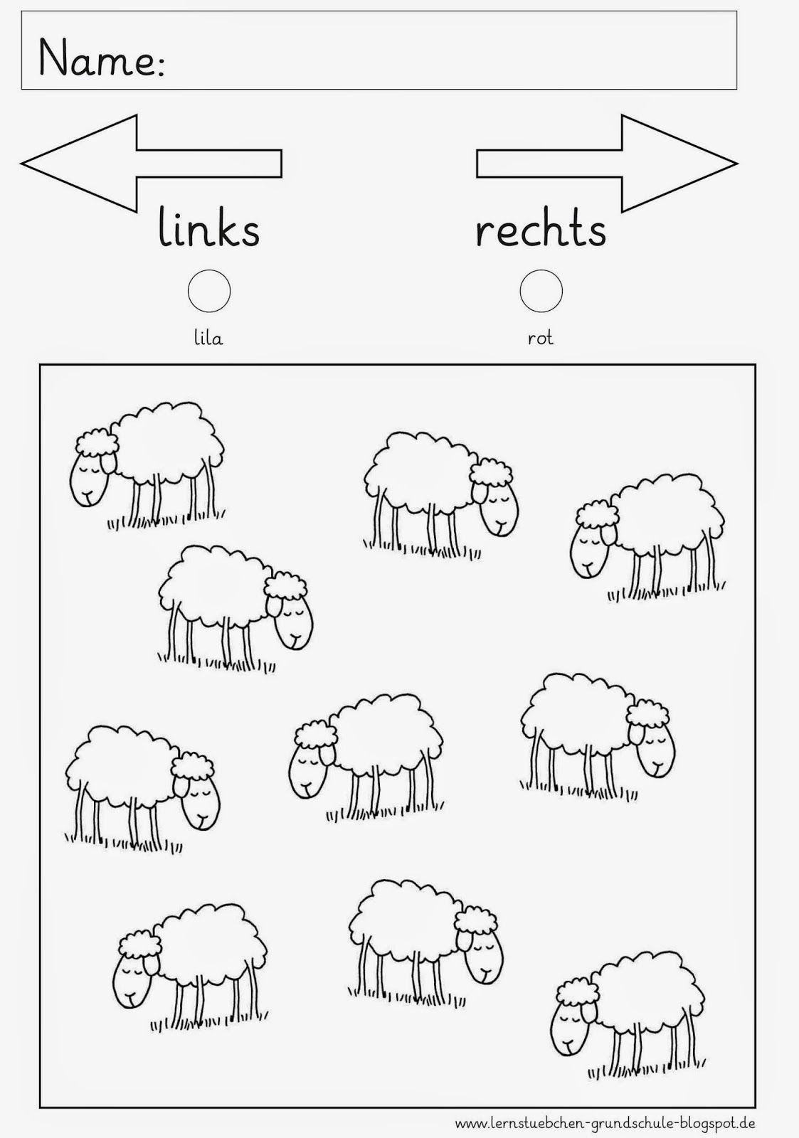 Rechts Und Links Math Lernstubchen Rechts Und Links In
