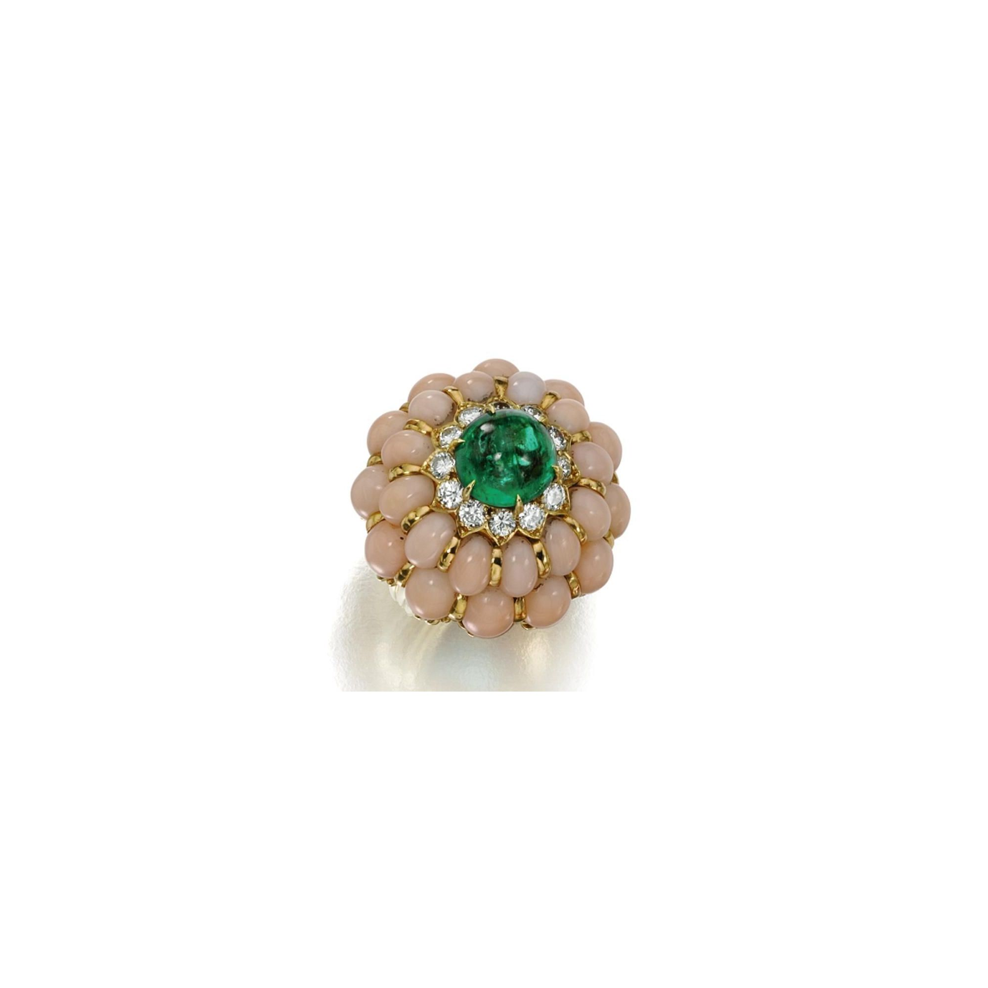 rings fd ring coral gallery multi jewelry diamond david by product druckenmiller gold oneofakind lyst emerald fiona webb