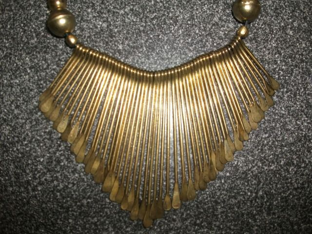1970's Hammered Brass Necklace