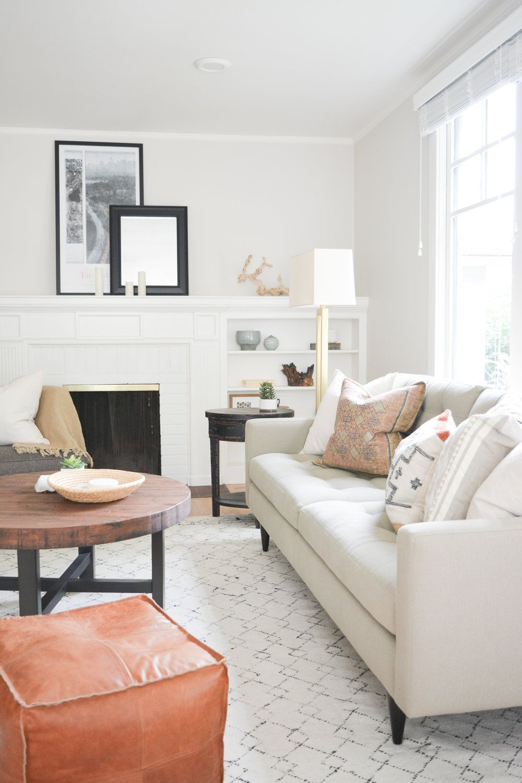 Berkeley Earthy and Eclectic Living Room / Angela Grace Design ...