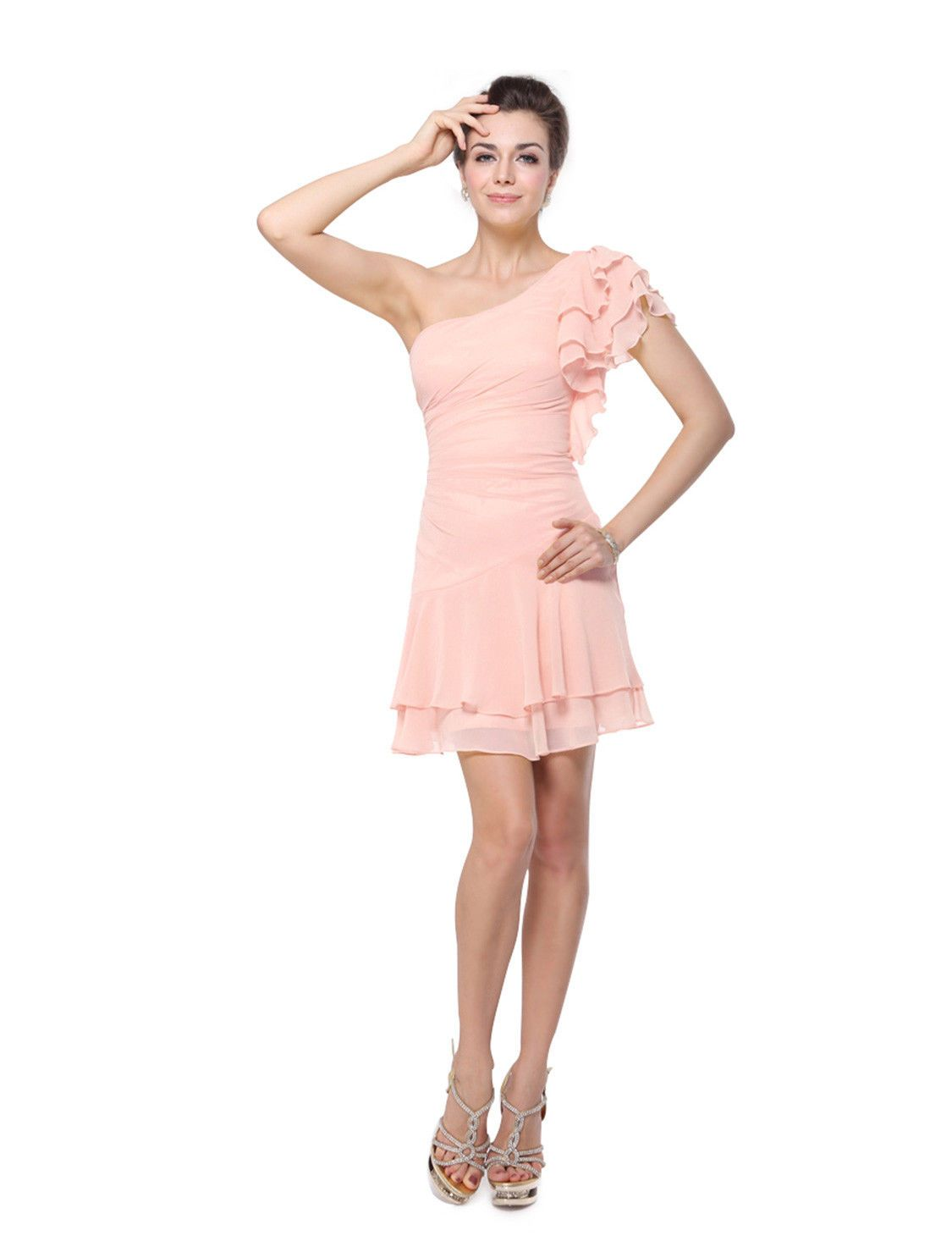 Womens Short Prom Dresses 2017 Ruffle Homecoming Cocktail Party Ball ...
