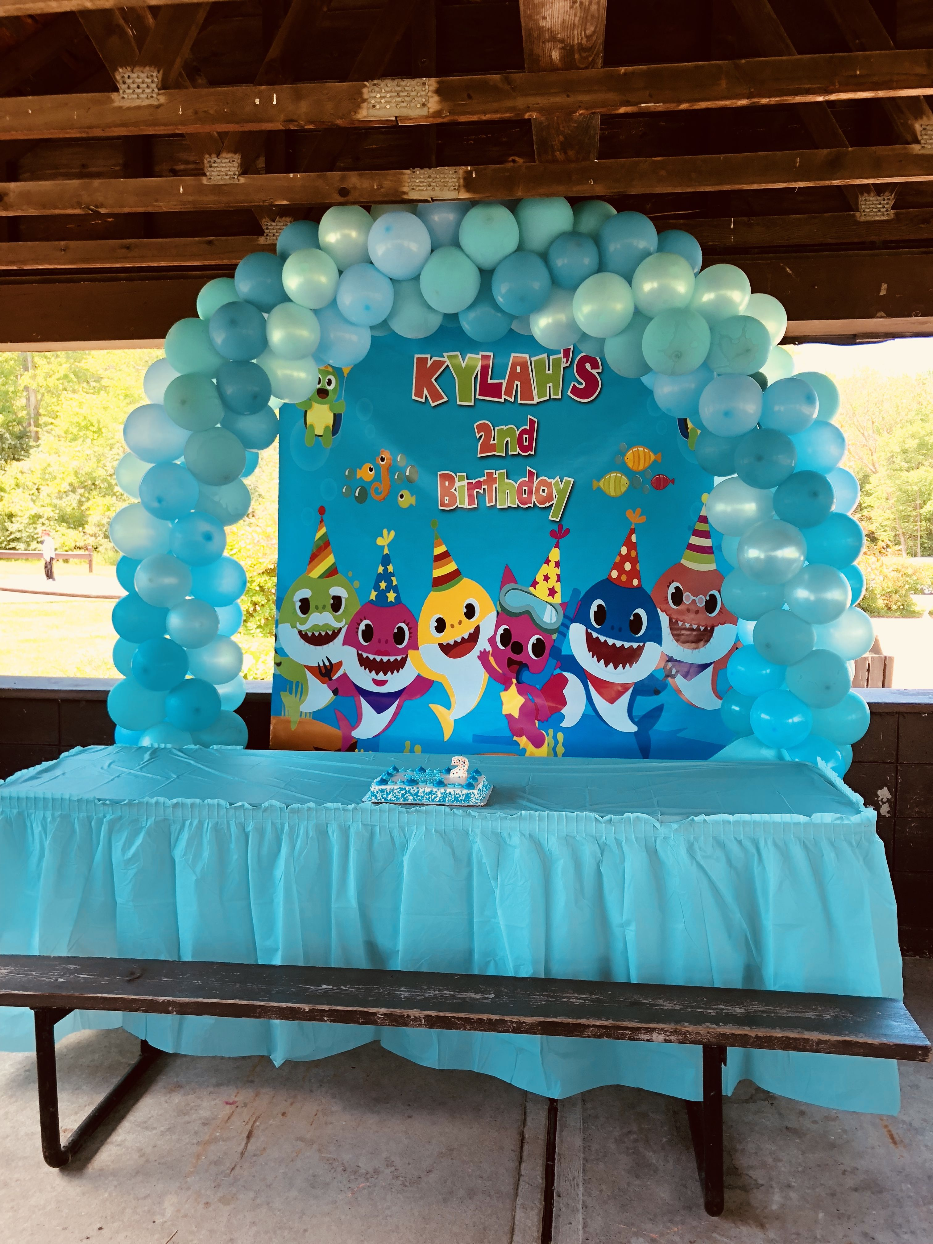 Pin By Partycreationsandmoresite Com On Baby Shark Birthday Shark Theme Birthday Shark Themed Birthday Party Shark Themed Party