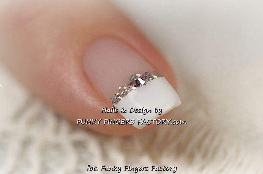 Gelish Wedding Manicure with Swarovski crystals www ...