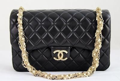 77ad43409b32fa MINT-CHANEL-Black-Lambskin-Leather-Westminster-Pearl-CCs-Flap-Bag-w-GHW