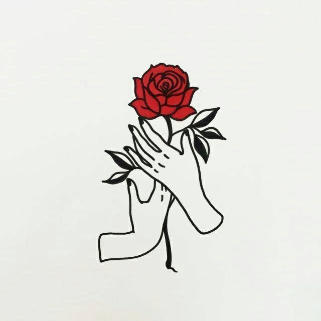 Pin By Cubagold On Simple Drawings Rose Drawing Art Hand