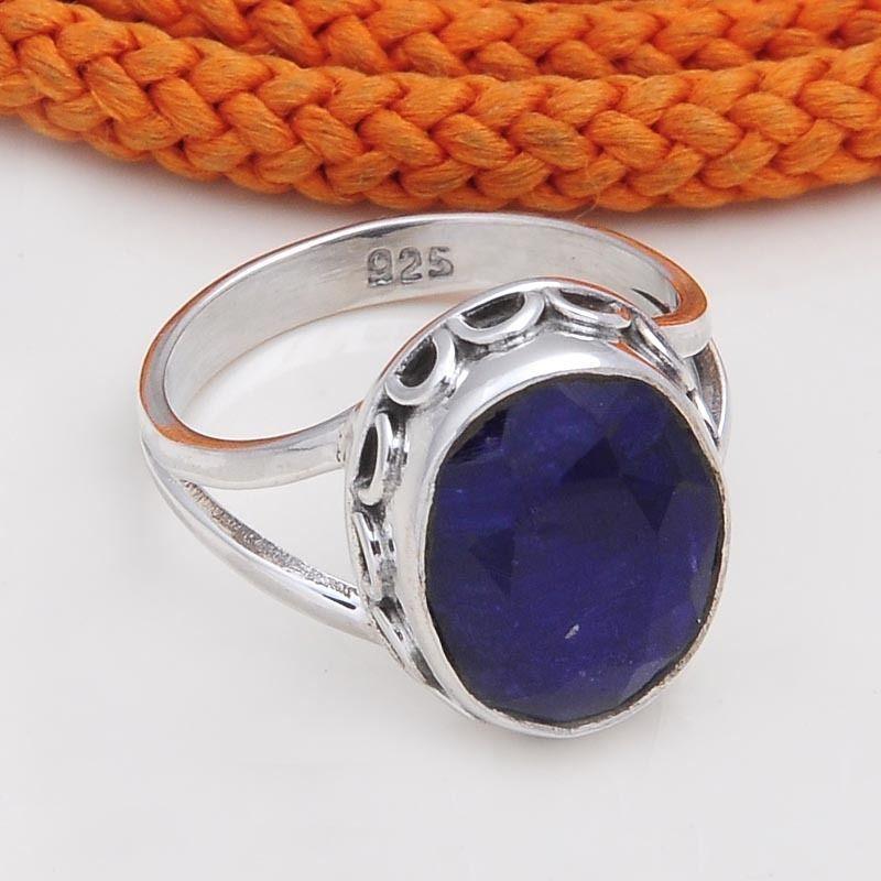 925 STERLING SILVER FANCY SAPPHIRE RING 4.71g DJR4575 #Handmade #Ring