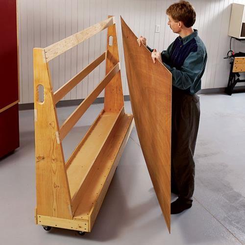 Plywood Garage Cabinet Plans: Roll-Around Plywood Cart Woodworking Plan, Workshop & Jigs