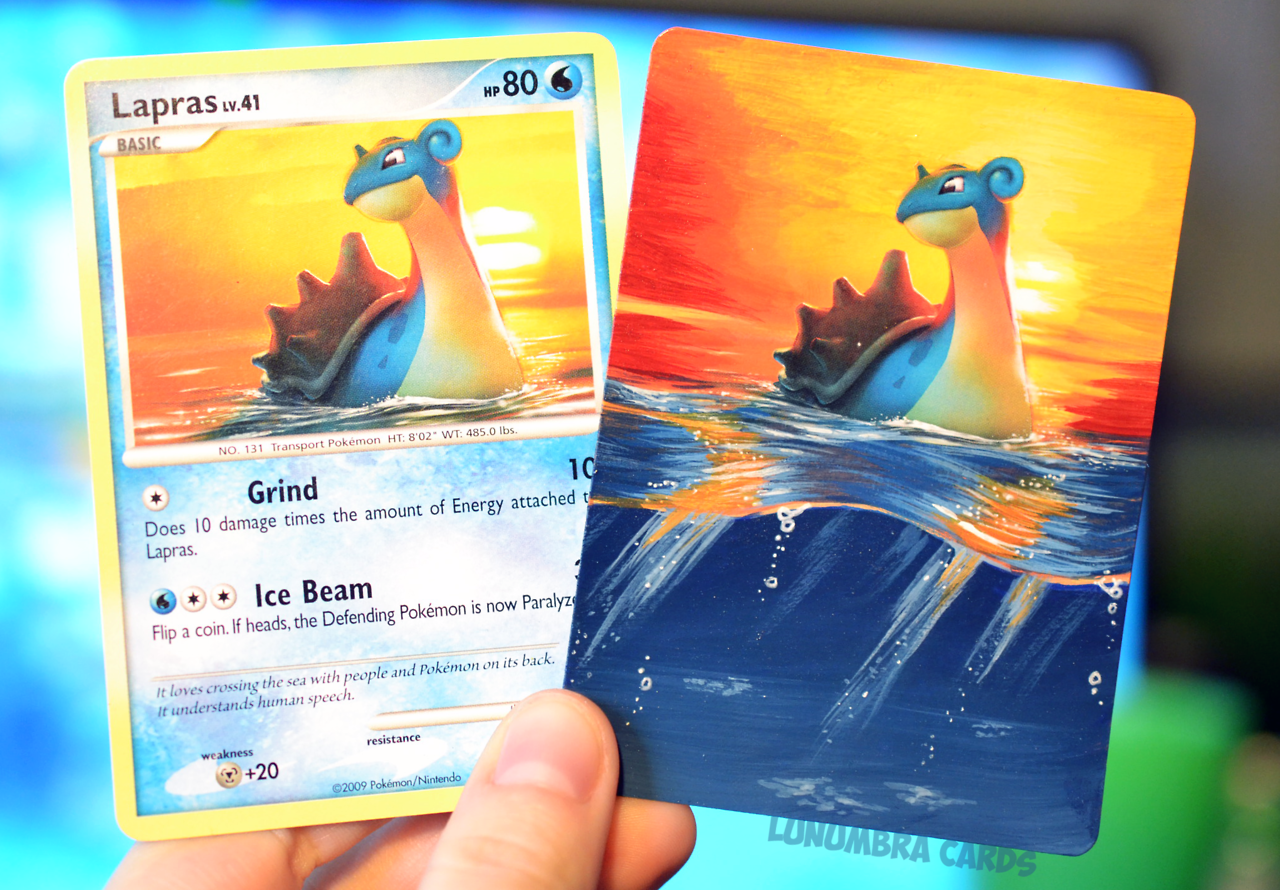 Lapras Altermitsuhiro Arita Is Such A Wonderful Illustrator They Get So Realistic With Lighting Effects And Colour Pokemon Painting Make Pokemon Cards Pokemon