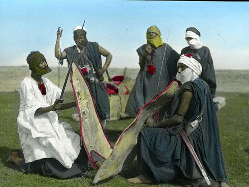 Tuareg Warriors | Tuareg warriors with shields and swords008
