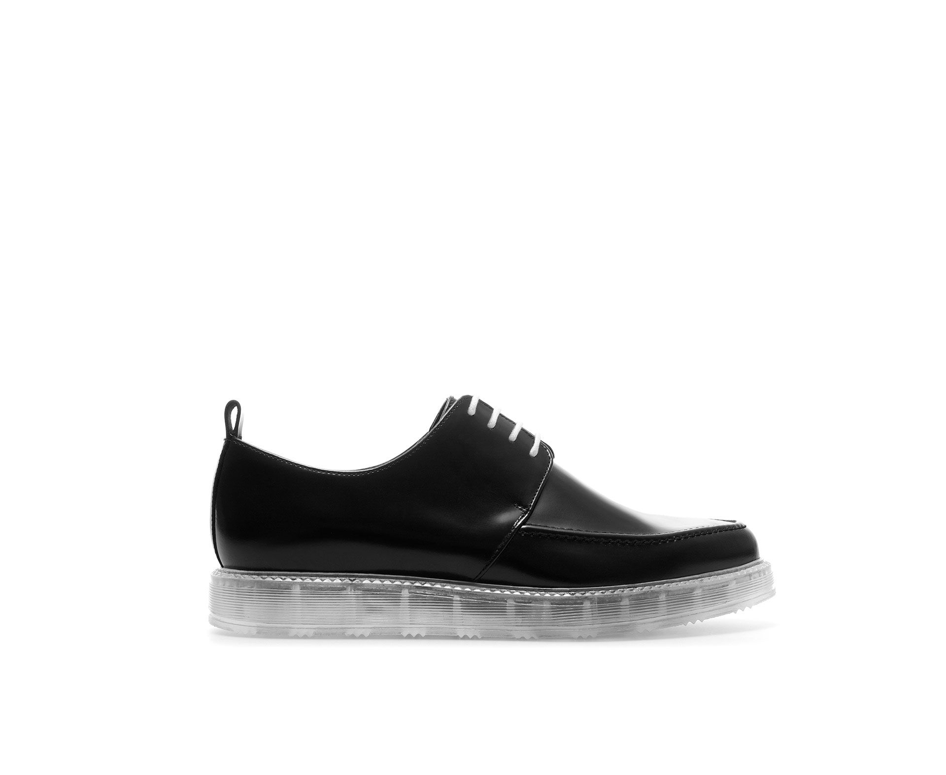 e684240ee7 LEATHER BLUCHER WITH TRANSPARENT SOLE - Shoes - TRF   ZARA United ...