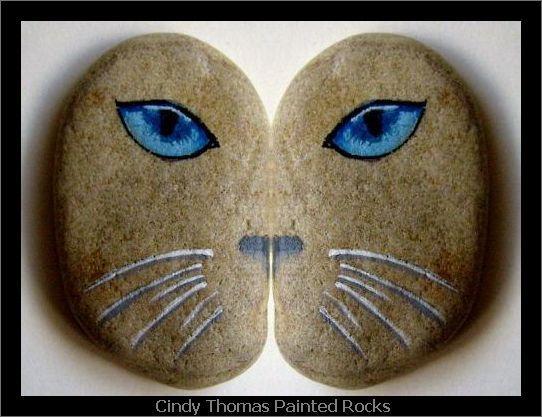 Butterfly Kitty Cat Stone