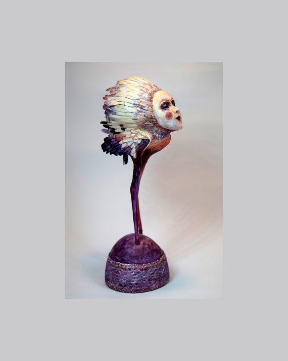 Sirin AVE OOAK arte muñeca Нandmade de la muñeca arte escultura